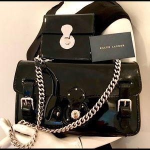 NWT Ralph Lauren collection patent handbag set
